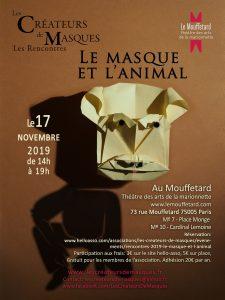 Le masque et l'animal @ Mouffetard Théâtre des arts de la marionnette