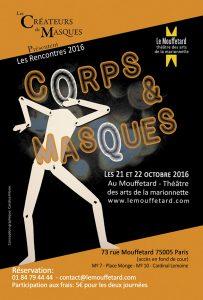 Rencontres des créateurs de masques Corps et Masques @ Le Mouffetard théâtre des arts de la marionette | Paris | Île-de-France | France
